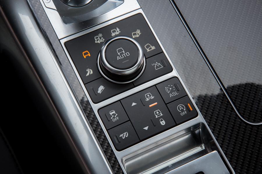 سيارة لاند روفر رانج روفر سبورت 2015 - أزرار التحكم في ملحقات السيارة